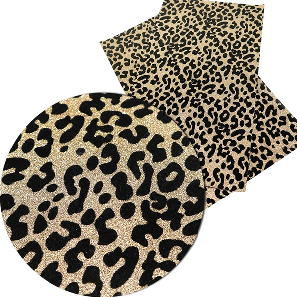 Leopard Animal Print Glitter ~ 0.69mm ~ Gold & Black