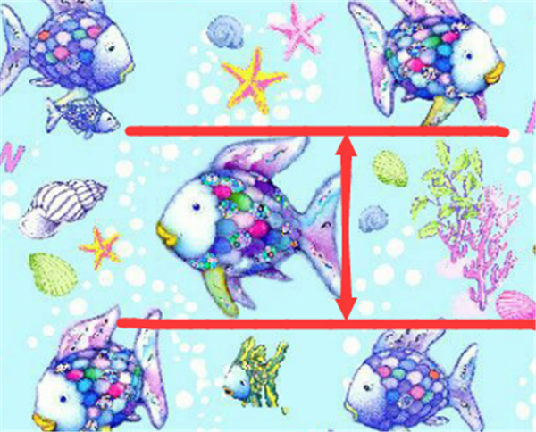 Rainbow Fish Smooth Glitter Faux Leather Craft Fabric
