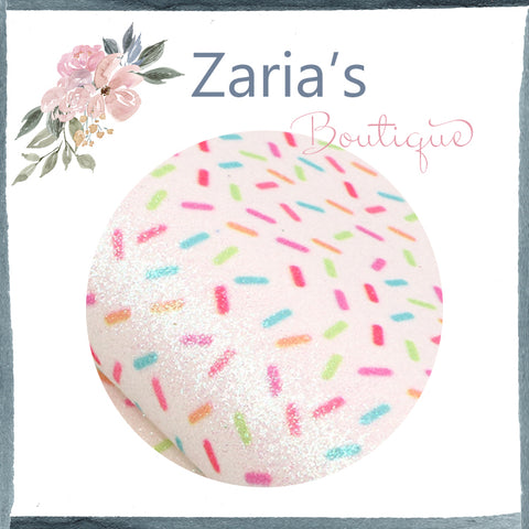 Sprinkles ~ FINE GLITTER ~ Multicolour Faux Bow Craft Fabric