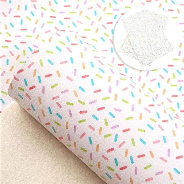 Sprinkles ~ LUXE Grain Leather ~ Multicolour Faux Bow Craft Fabric