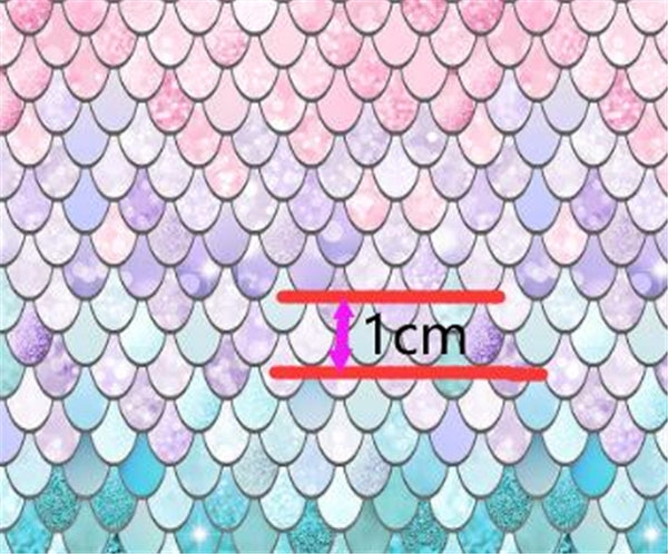 Mermaid Scales Luxe Faux Leather  ~ Pink Purple Blue  ~ 0.91mm
