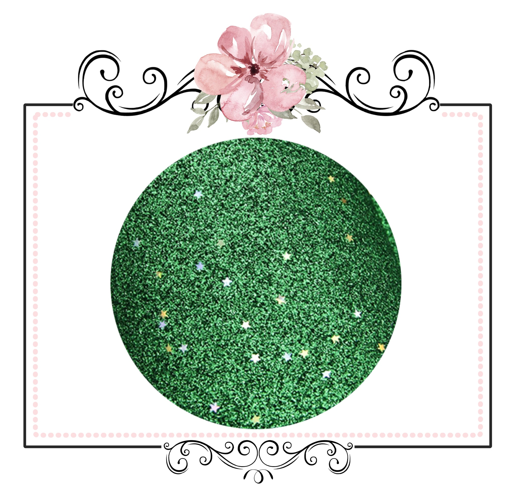 Starry Night Collection Fine Glitter ~ Green ~ Silver & Gold Star Encrusted Christmas Craft Sheets