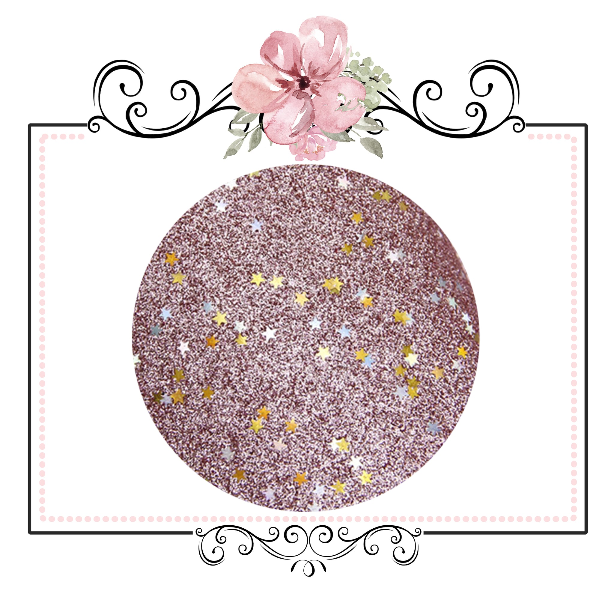 Starry Night Collection Fine Glitter ~ Dusty Pink ~ Silver & Gold Star Encrusted Christmas Craft Sheets