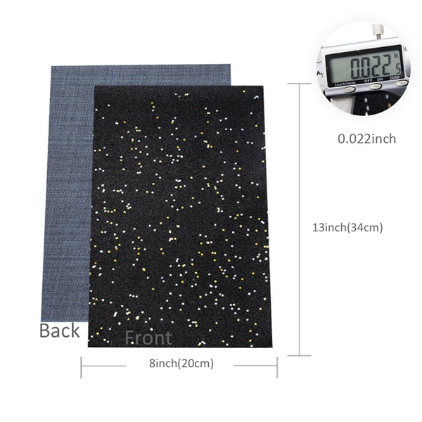 Starry Night Collection Fine Glitter ~ White ~ Silver & Gold Star Encrusted Christmas Craft Sheets