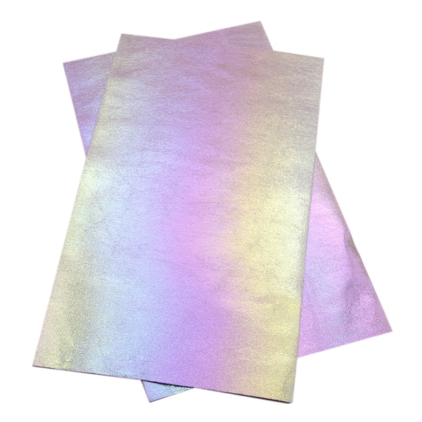 Metallic Faux Leather ~ Pink Mother Of Pearl ~ Pleather ~ Leatherette