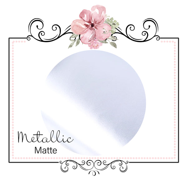 METALLIC MATTE  ~ Silver Pearl Faux Leather