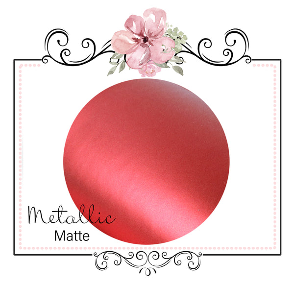 METALLIC MATTE  ~ Red Pearl Faux Leather