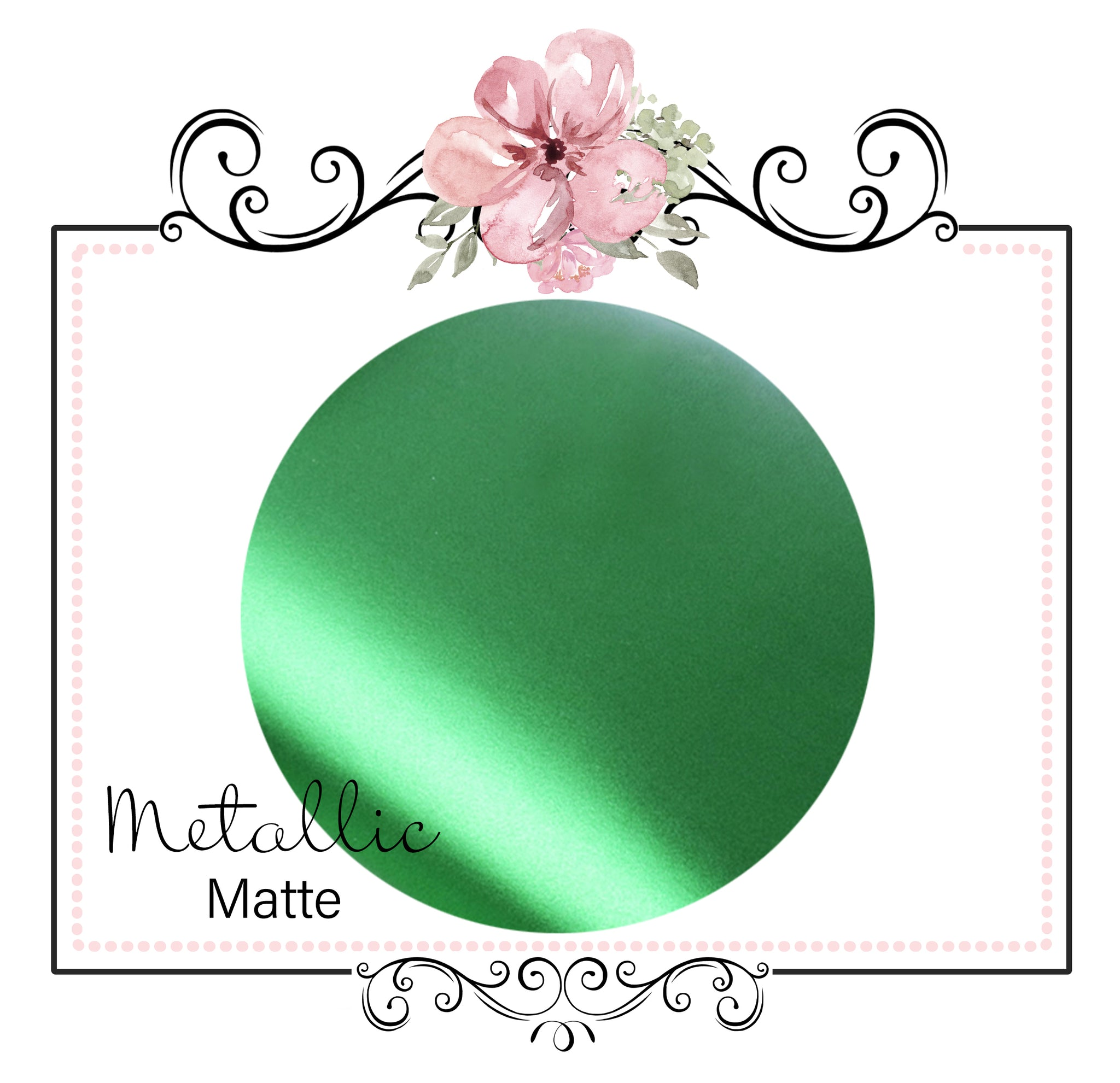 METALLIC MATTE  ~ Green Pearl Faux Leather