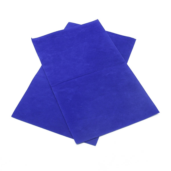 Luxe DOUBLE SIDED Suede Nubuck Faux Leather Sheets ~ Royal Blue