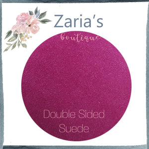 Luxe DOUBLE SIDED Suede Nubuck Faux Leather Sheets ~ Fuchsia Hot Pink