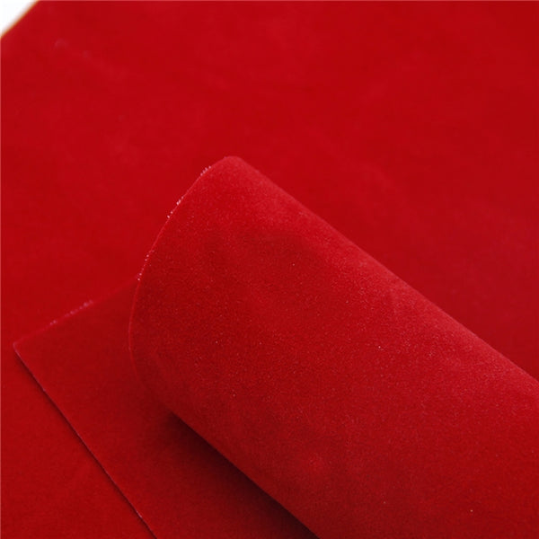 Luxe DOUBLE SIDED Suede Nubuck Faux Leather Sheets ~ Bold Red