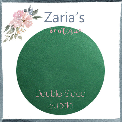 Luxe DOUBLE SIDED Suede Nubuck Faux Leather Sheets ~ Emerald Green