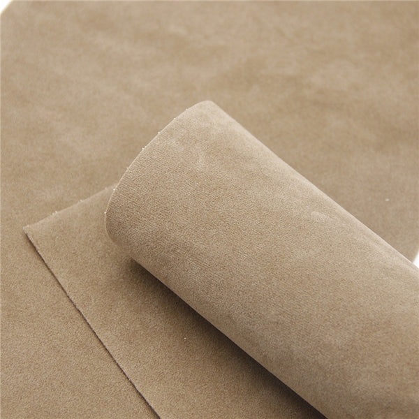 Luxe DOUBLE SIDED Suede Nubuck Faux Leather Sheets ~ Light Tortilla Brown