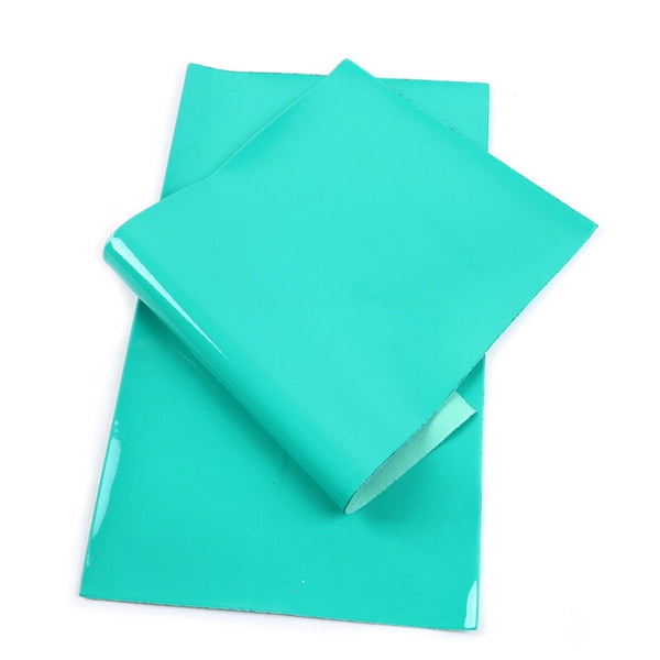 Soft PU Patent Faux Leather Sheets ~ Jade Green