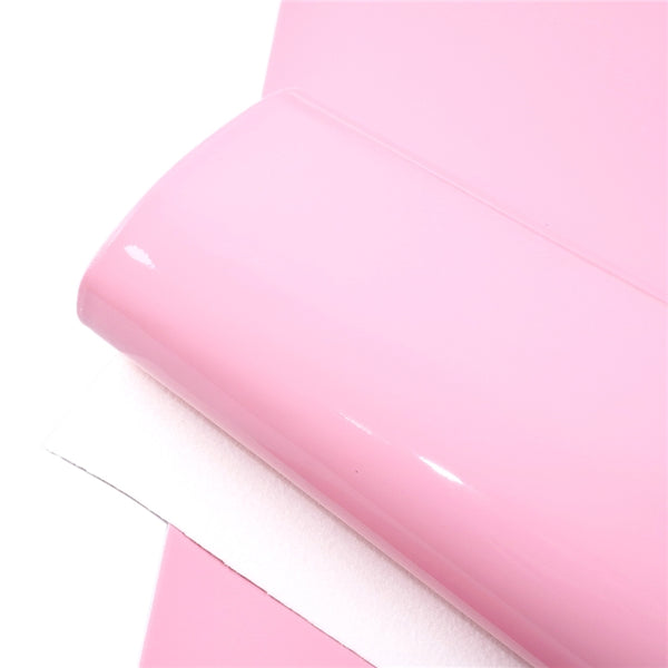 Soft PU Patent Faux Leather Sheets ~ Dusty Rose Pink
