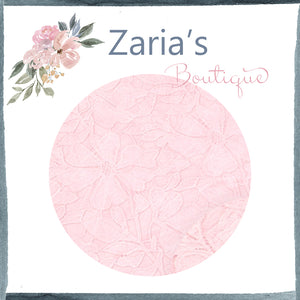 Medium Pink Lace ~ Faux Leather Craft Fabric