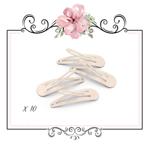 Pastel Snap Hair Clips ~ Nude