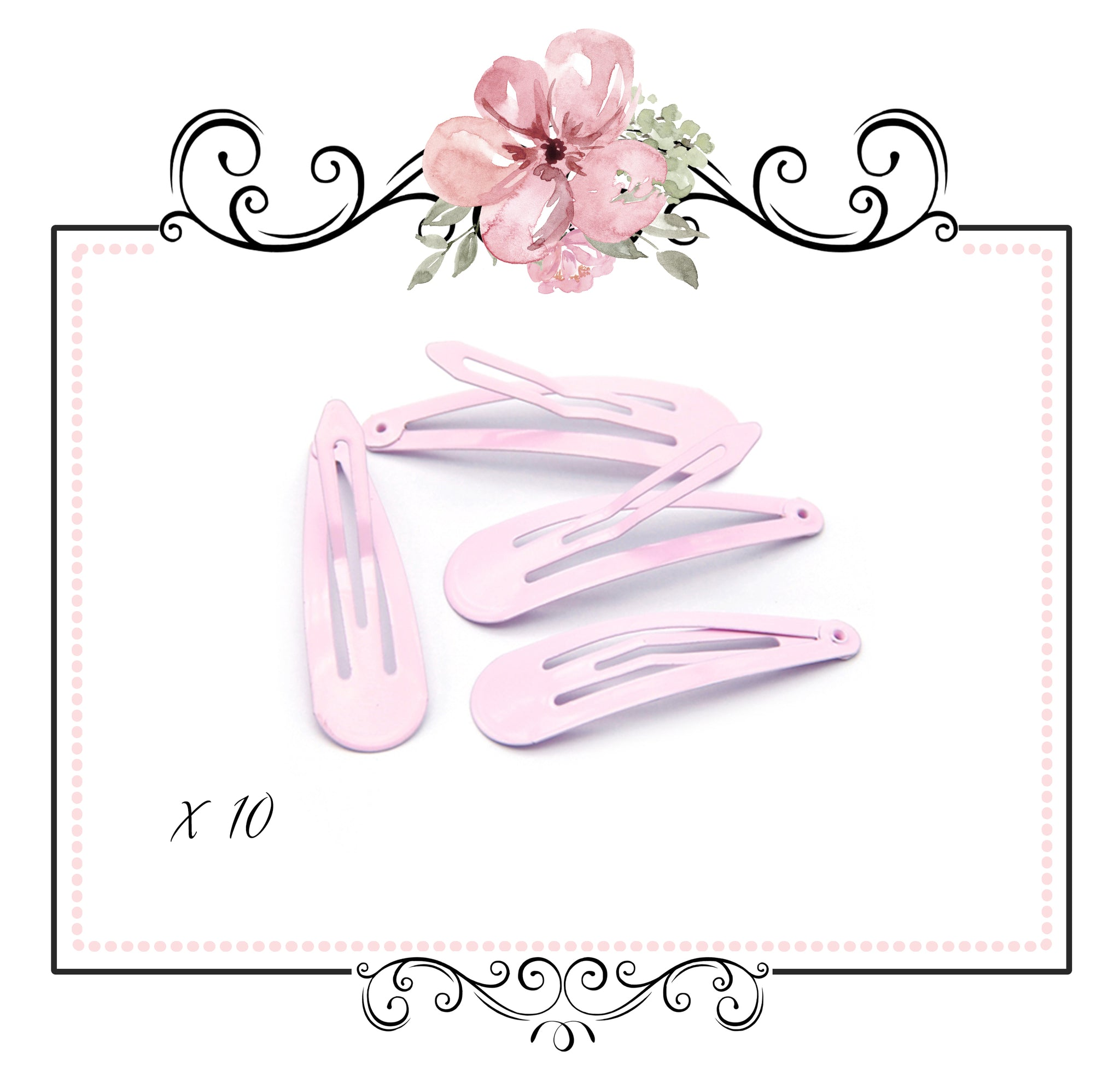 Pastel Snap Hair Clips ~ Light Pink