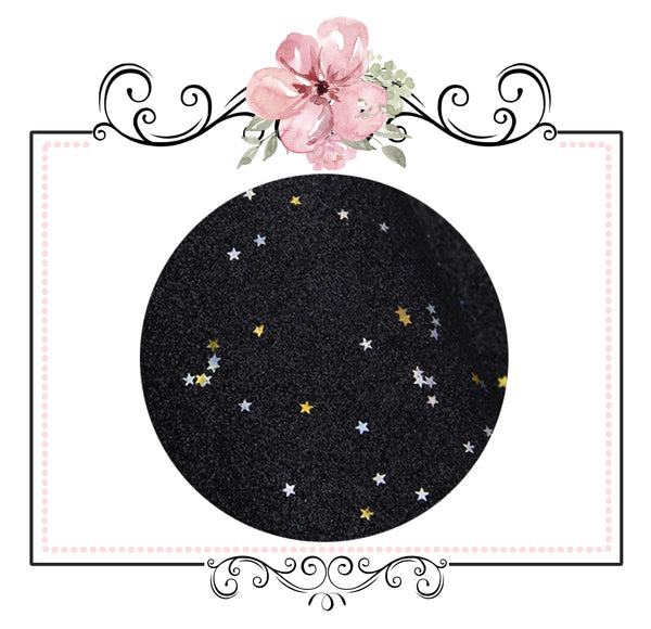 Starry Night Collection Fine Glitter ~ Champagne ~ Silver & Gold Star Encrusted Christmas Craft Sheets