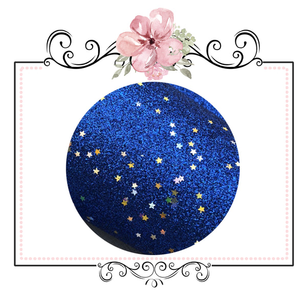 Starry Night Collection Fine Glitter ~ Electric Blue ~ Silver & Gold Star Encrusted Christmas Craft Sheets
