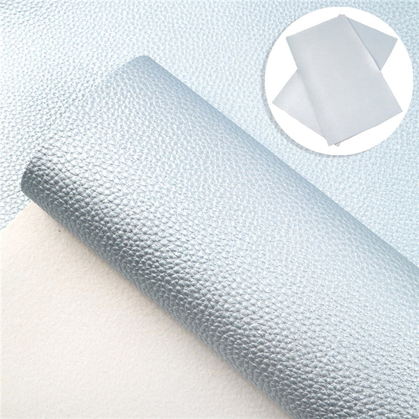 Baby Blue Pearl ~ Faux Leather Fabric Sheets