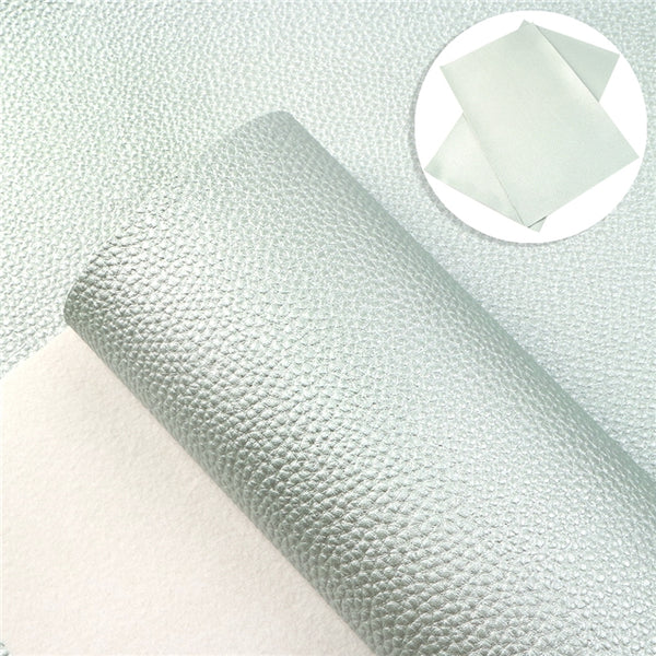 Mint Green Pearl ~ Faux Leather Fabric Sheets