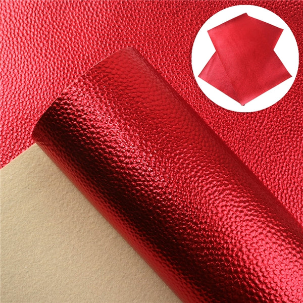 METALLIC ~ Red Grain Faux Leather