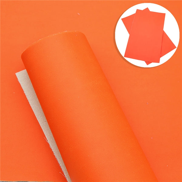 Fluoro Orange | Fluoro Fever | Fluorescent Smooth Faux Leather Leatherette