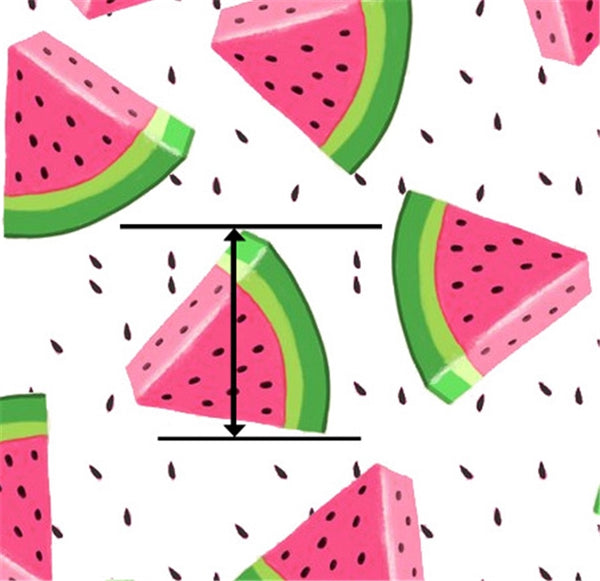 Watermelon ~ Smooth Faux Leather Summer Melon Craft Fabric Leatherette