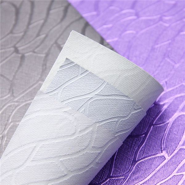 Purple Embossed Flutter ~ Embossed Metallic Textured Craft Fabric Sheets