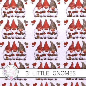 3 Little Gnomes Christmas Luxe Grain Faux Leather ~ 1.03mm