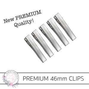 NEW PREMIUM QUALITY! 46mm Alligator Hair Clips ~ 10, 50 or 100