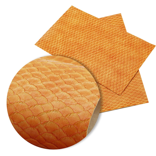 Textured Orange Mermaid Tails