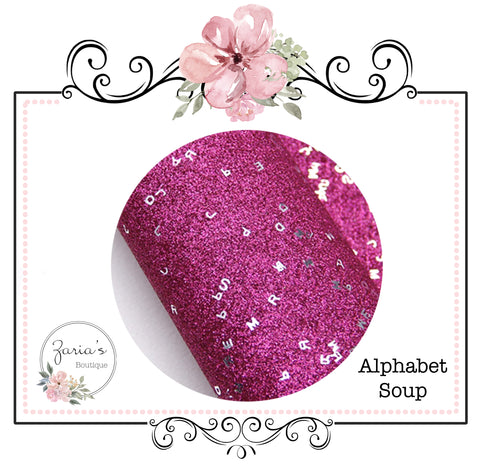 Alphabet Soup ~ Hot Pink Fine Glitter