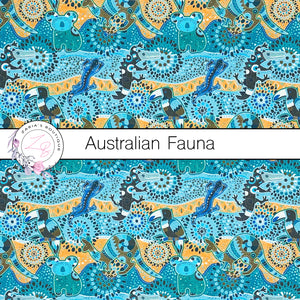 Australian Fauna ~ Faux Leather ~ 1mm