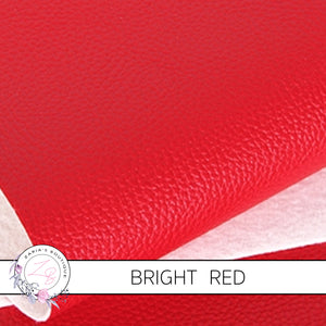 Pebble Grain Faux Leather | Bright Red Litchi Hair Bow Craft Fabric Sheets