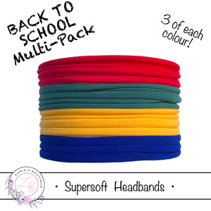 SUPERSOFT Headbands ~ 12 pack ~ Back To School Mix
