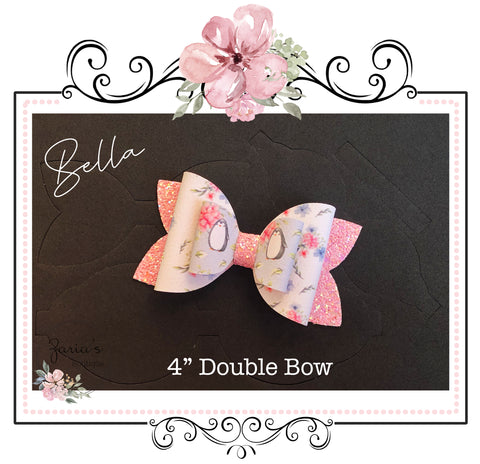 "Bella Bow Die ~ 4"" Double Bow"