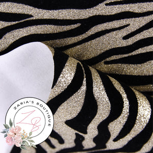 Golden Glitter Zebra Print ~ 1.53mm