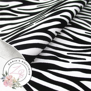 Black & White Faux Fur Zebra Print
