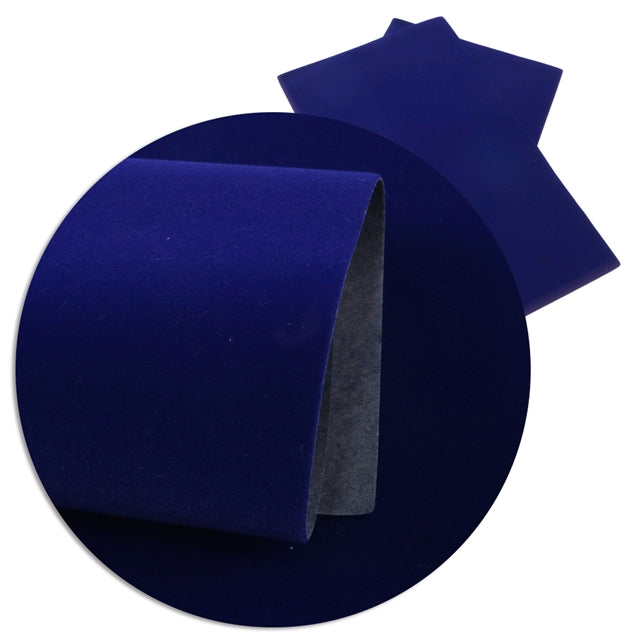 Velvet Faux Leather Sheets ~ Royal Blue