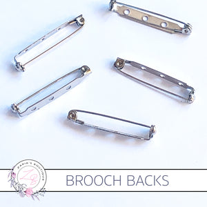 Brooch Back Clip With Safety Lock ~ Large ~ 3.8cm x 10 pieces