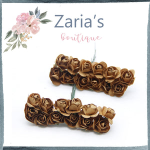 Paper Flowers ~ 1.5cm ~ Chocolate Brown