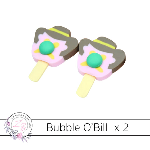 Bubble O'Bill Flat Back Bow & Jewellery Embellishments set of 2