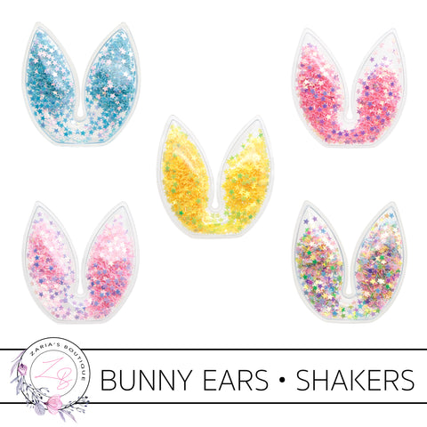 Shaker Bunny Ears • Easter Embellishment • Pack of 2