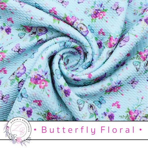 ⋅ Butterfly Floral ⋅  Bullet/Liverpool Stretch Fabric