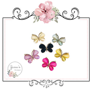 Butterfly Embellishments ~ High Quality Metal Flat Back ~ 6 colours to choose from