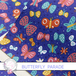 Butterfly Parade ~ Vegan Faux Leather