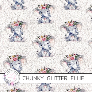 Ellie The Elephant ~ Chunky Glitter