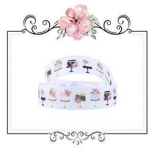 "Designer Wedding Cake Ribbon ~ 25mm ~ 1"" ~ 2 Yards"